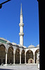 136. Courtyard and minaret, Blue Mosque.