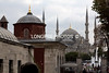 Exiting HAIGI-SOPHIA....BLUE MOSQUE in distance.
