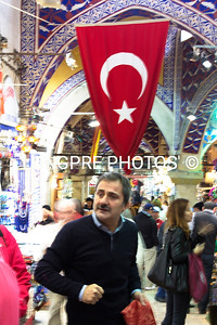 Inside one of many markets in Istanbul.