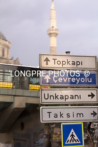 Street signs in ISTANBUL.