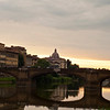 View from the banks of the Arno river