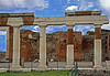 #0418 Pompeii Forum<br /> The Forum were the religious and civic center for the town. Pompeii was destroyed in Augest 79 AD when the volcano, Mount Vesuvius erupted for two days burying the city in ash and pumice. The city was rediscovered in 1748 and excavation started. The excavations have given us a very detail insight as to how peole lived when the Roman Empire was at it's peak. The excavation still continues today, but at a much slower pace as due to budget problems.