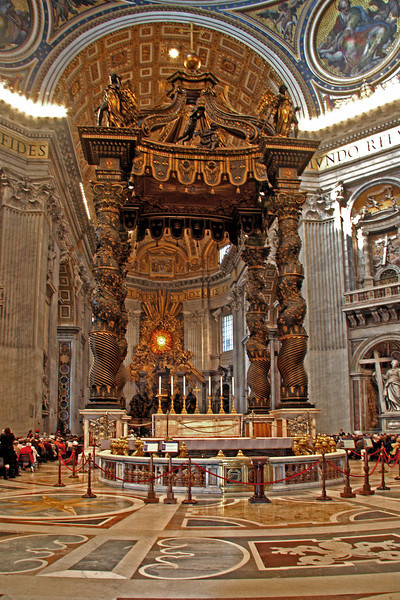 #0076 St. Peter's Basilica<br /> St. Peter's Basilica is the burial site of St. Peter and is one of the holiest sites in Christendom. There are over a 100 tombs within St. Peter's.The church covers 5.7 acres and will hold 60,000 people.