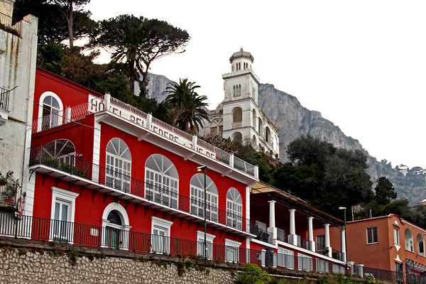 #0315 Capri Hotel front<br /> Capri is now in the Province of Naples. Everything is ferried over from the mainland.