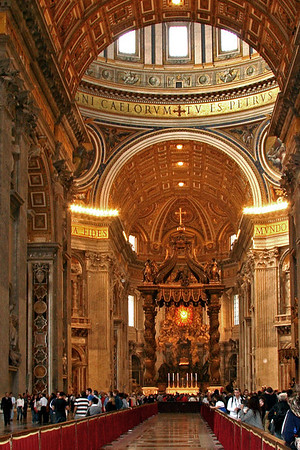 #0062 St. Peter's Basilica<br /> St. Peter's Basilica is the burial site of St. Peter and is one of the holiest sites in Christendom. There are over a 100 tombs within St. Peter's.The church covers 5.7 acres and will hold 60,000 people.
