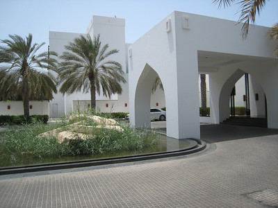The entrance to the Chedi in Muscat.