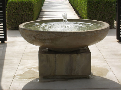 Water feature in the Chedi grounds.