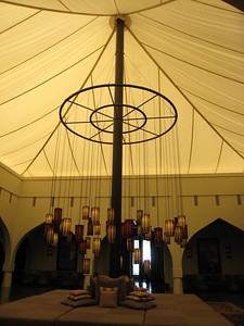 Tented foyer of the Chedi hotel in Muscat.