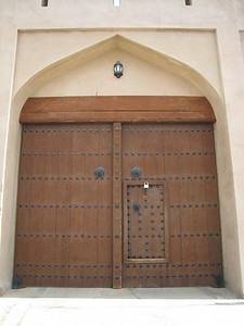 Entrance gate at Ibri Fort, Oman.