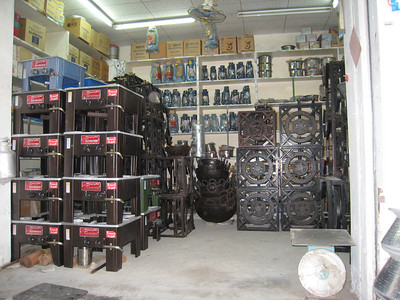 The gas burner shop in the Muttrah souq - some serious gas cookers.
