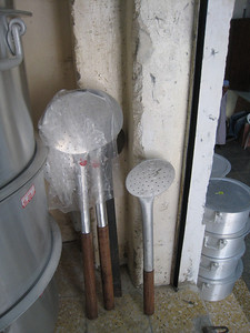 And you'll be wanting a mixing spoon for your enormous pot.....(these spoons were about 3-4 feet tall)