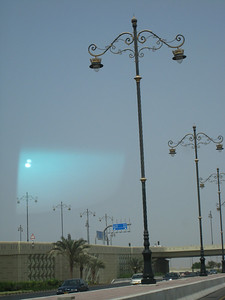It was strange to see French style street lights in the middle of Muscat.