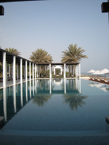This is the adults only pool at the Chedi, there's another large pool for munchkins.