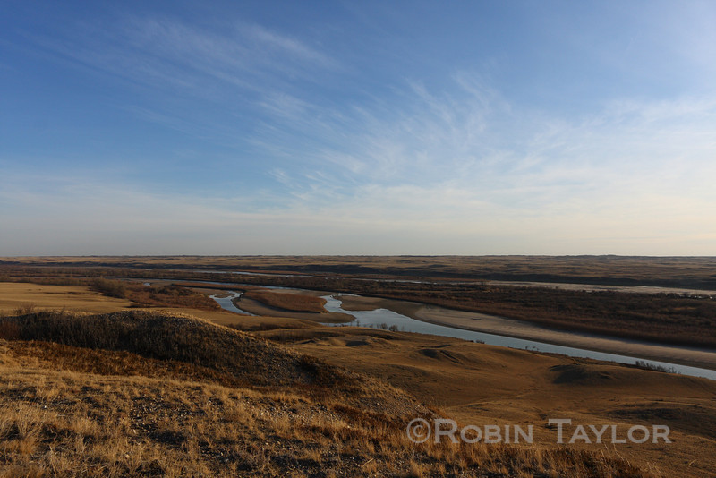 The South Saskatchewan River, shot from Wickie's Hill, south of Eston Saskatchewan