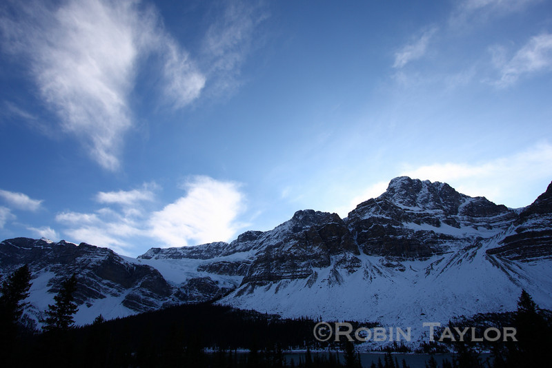 Mountains along the Icefields Parkway, Alberta
