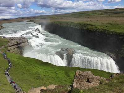 Gullfoss Falls and Strokkur Geyser