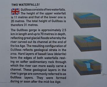 Gullfoss waterfall Geology