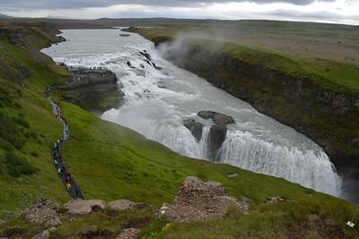 Gullfoss waterfall and access walkway