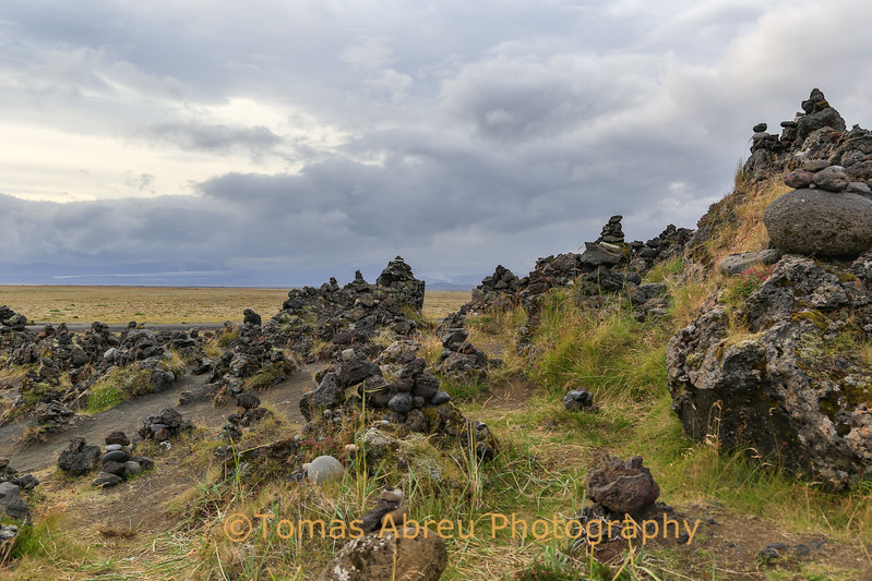 """Tufa"" aka the good luck rock cairns. Iceland"