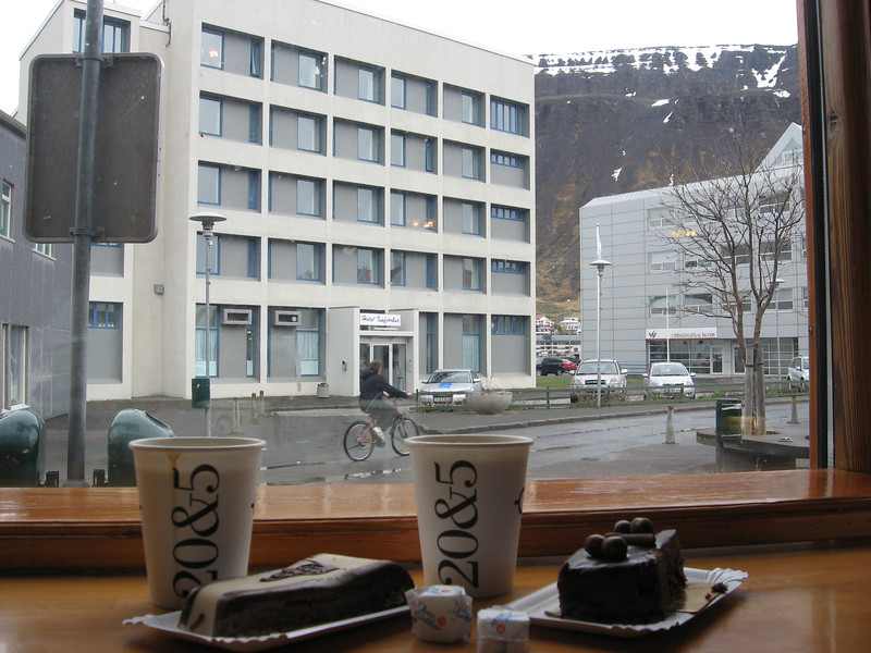 Rainy morning in Ísafjörður, we enjoy a slow relaxing time over coffee and delicious cakes.