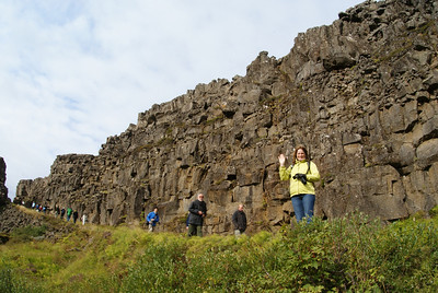 "Our first major stop on the Golden Circle was Þingvellir National Park.  In case you don't speak Icelandic Þ is pronounced ""th"" and Þingvellir means parliament.  Founded in 930, Þingvellir is the site of Iceland's original parliament which met here continuously until 1789."