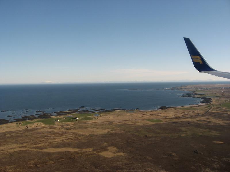 Landing in Iceland