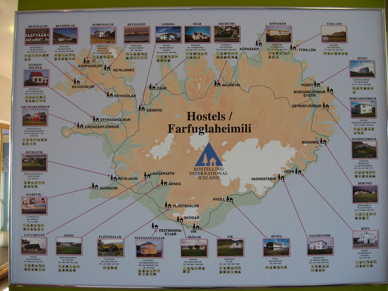 List of Hostels in Iceland