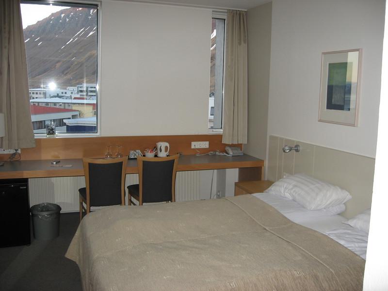 Our hotel room in Ísafjörður, Iceland