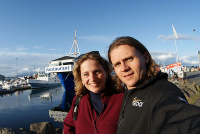 Reykjavik Harbor.  We ate at the restaurant behind the Attache's head.