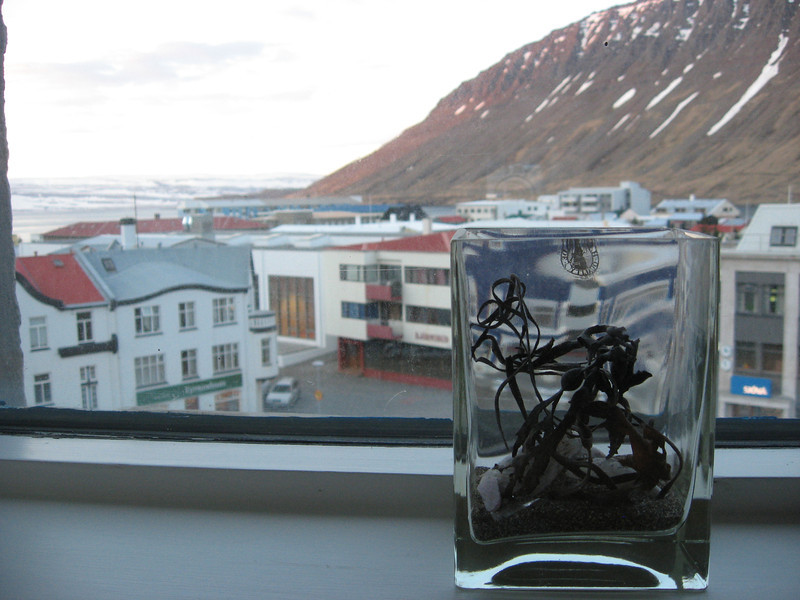 Ísafjörður, Westfjords, Iceland - our hotel room view from window around 2am, May 2009.