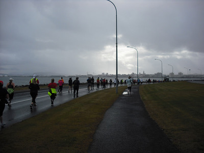 During the half-marathon.