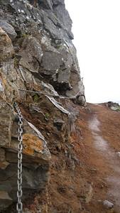 Path up high on Esja.