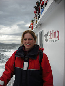 The Attache on the whale watching tour.  (Don't worry, whale pictures are coming...)