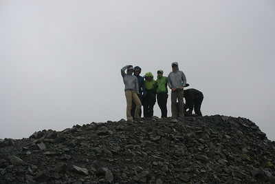 Six cold dayhikers.