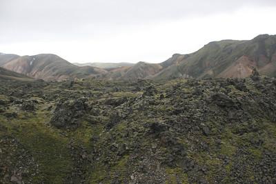 Lava formations near Landmannalaugar.