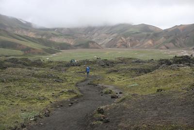 On the trail leaving Landmannalaugar.