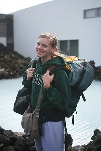 Aunika approves of soaking in the Blue Lagoon on the way to Reykjavik from the airport.