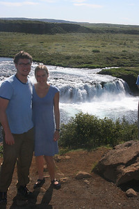 Tyler & Kjirsten at Faxi waterfall.