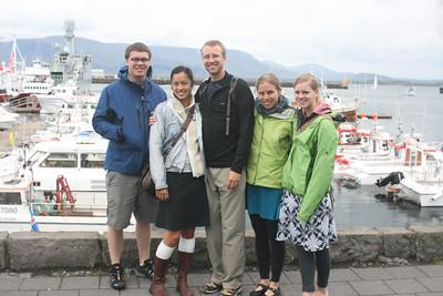 Tyler, Jayna, Shane, Kjirsten and Aunika in Reykjavik.