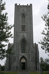 Catholic Cathedral of Christ the King church in Reykjavik.