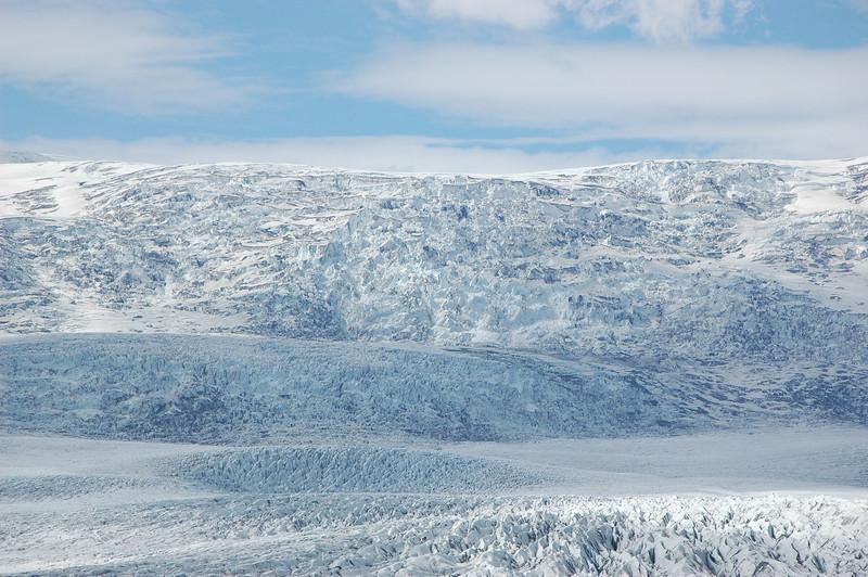 The glacier above Breiðárlón