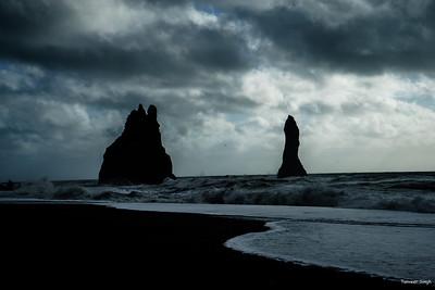 Skogafoss and black beach