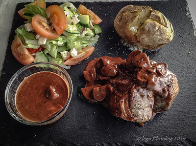 A delicious meal at Tveir Vitar - Icelandic Lamb, prepared to perfection.