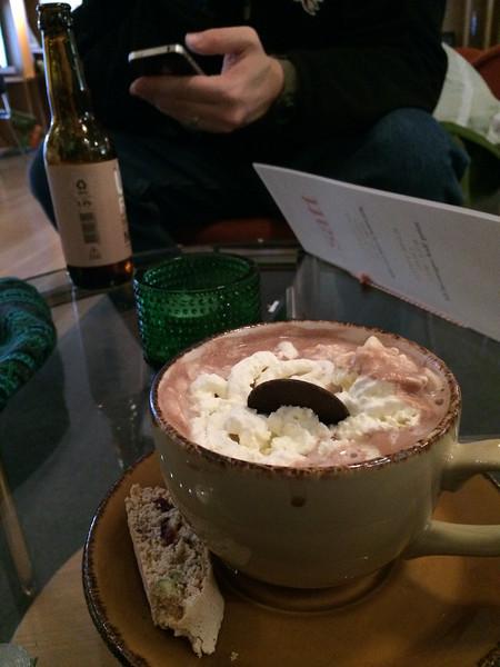 One tasty, if not so elegant, hot cocoa.