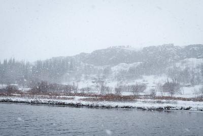 Snowfall At Þingvellir