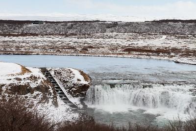 Faxi (Vatnsleysufoss) Waterfall And Salmon Ladder
