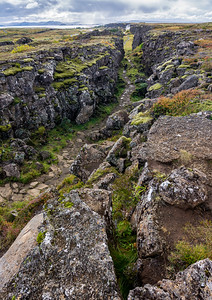 Fault Line at Thingvellir National Park
