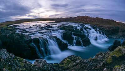 Langarfoss waterfall,  Borgarnes