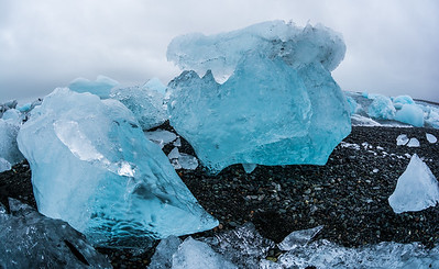 Ice at Jokulsarlon Glacier Lagoon