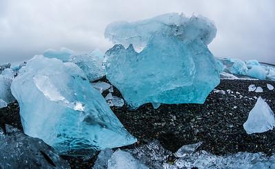 Ice at Jokulsarlon Glacier Lagoon